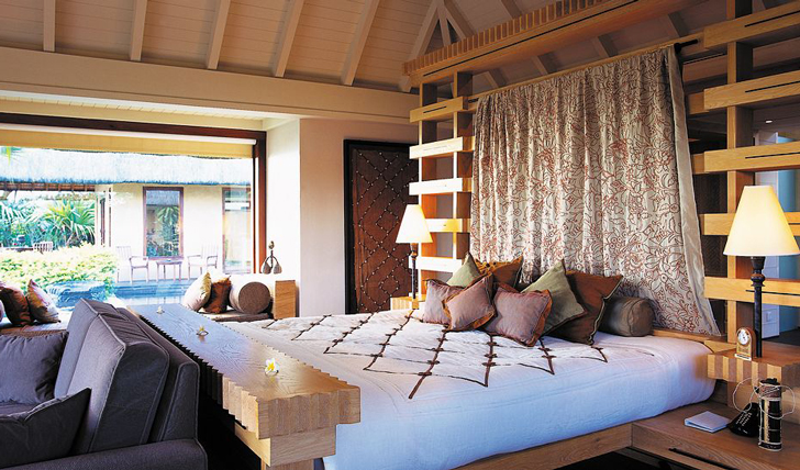 The light and airy bedrooms at The Oberoi