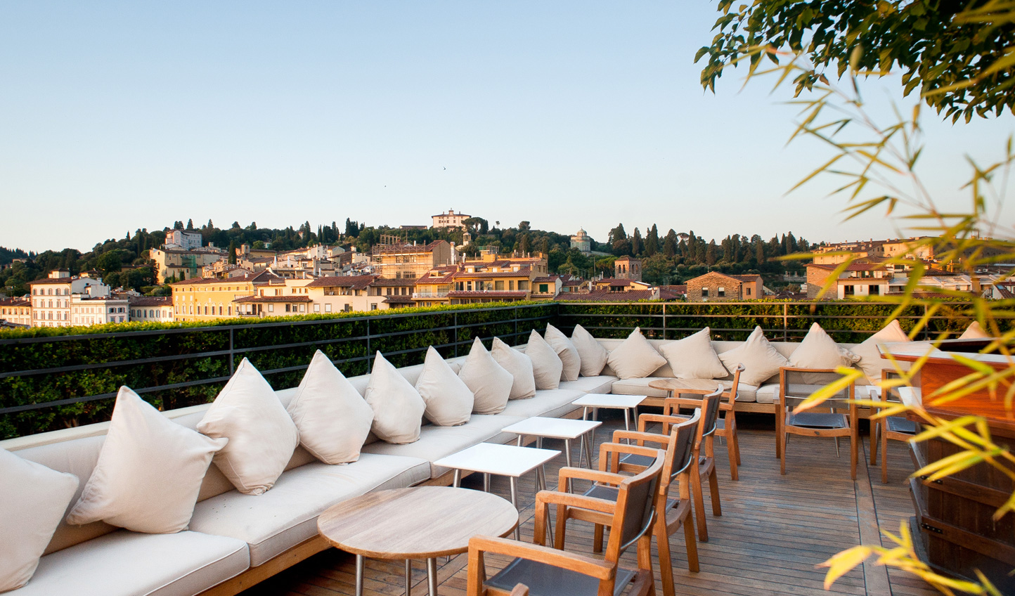 Enjoy views over Florence from the rooftop bar at La Terraza