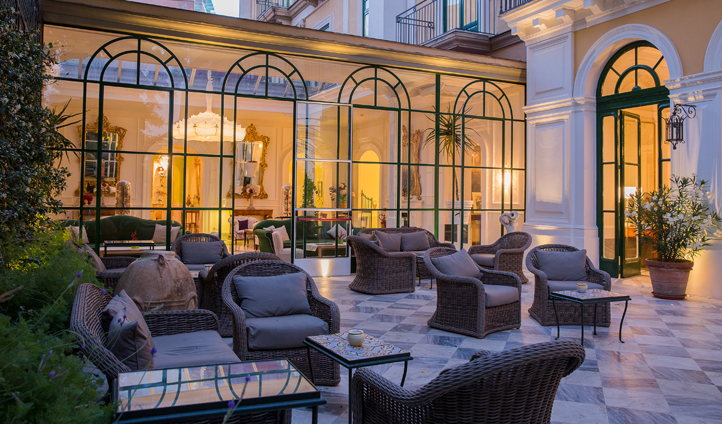 The patio is the perfect spot for an aperitif
