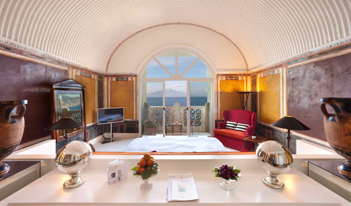The Pompeiana Suite is spoilt with views towards the ancient city