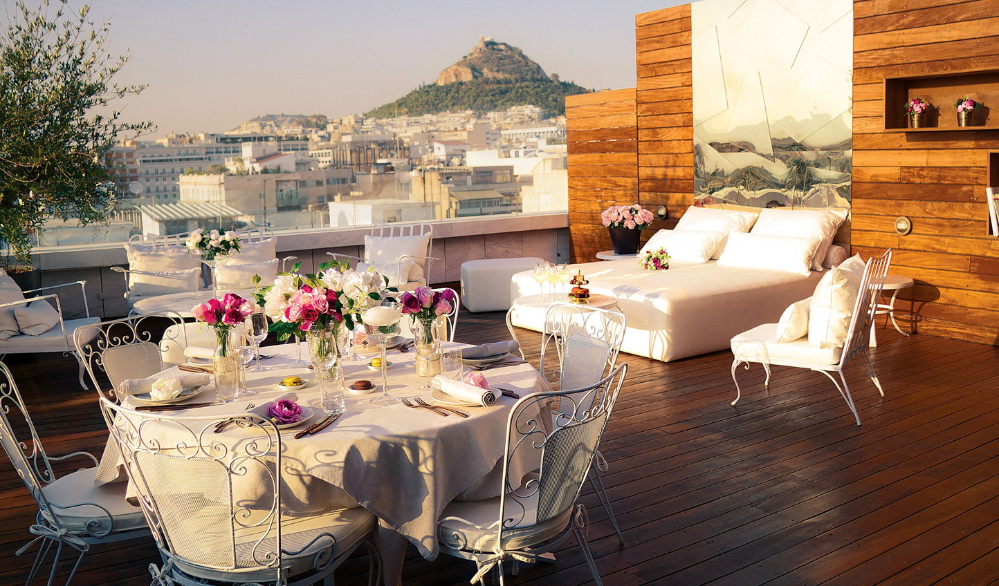 Dine in privacy on the penthouse terrace