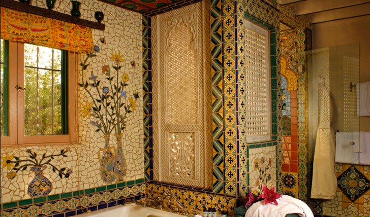 Exquisite mosaic bathrooms