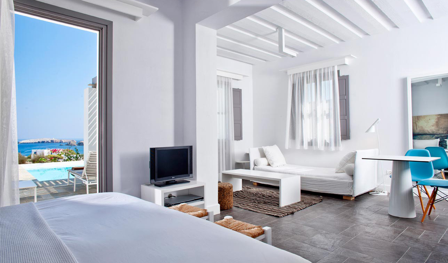 White washed walls in your suite
