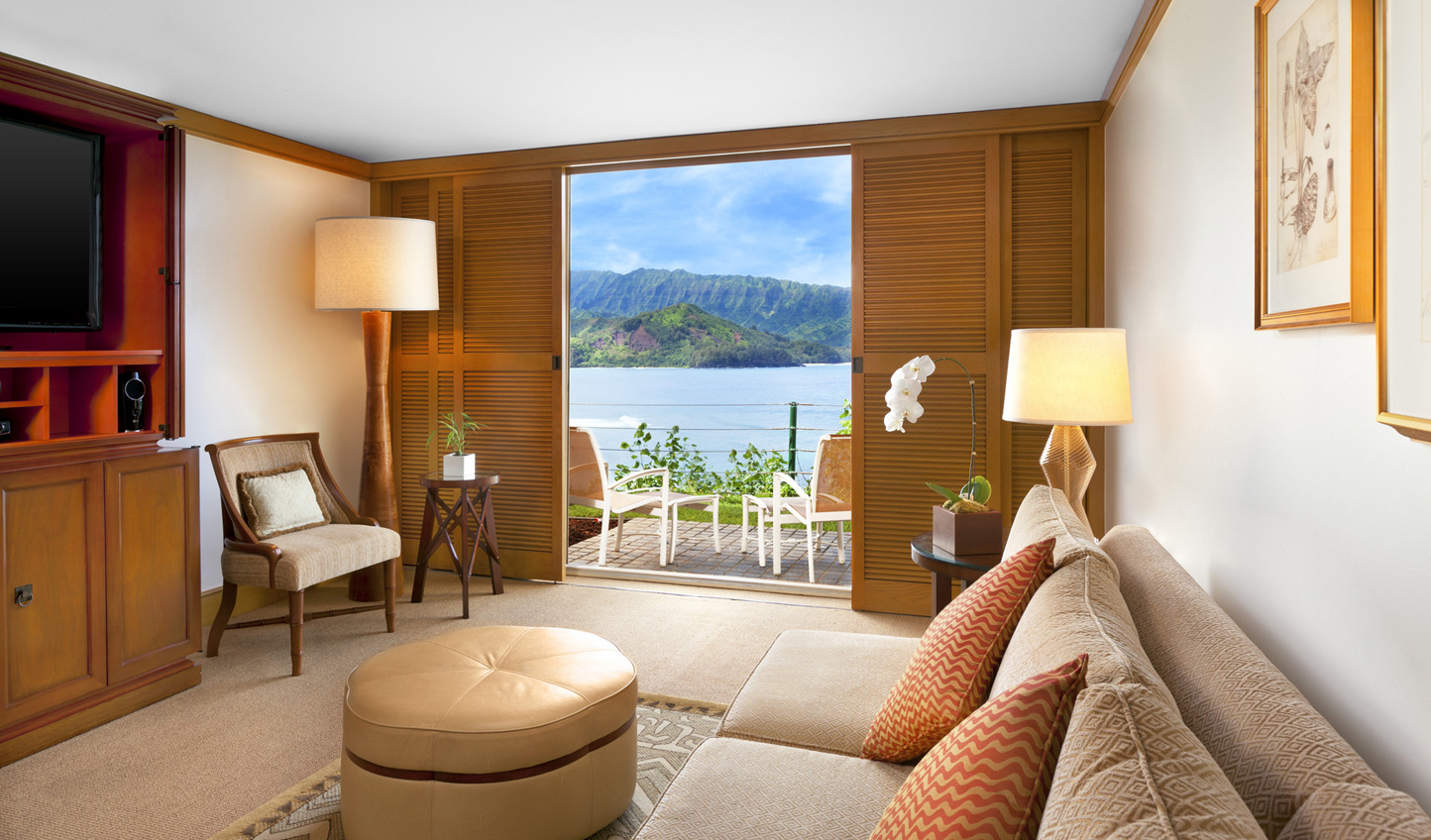 Enjoy stunning ocean views from the comfort of your room