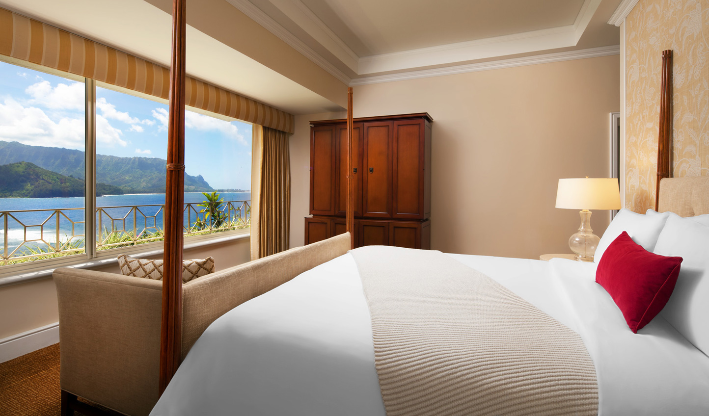 Wake up to azure waters and tropical views