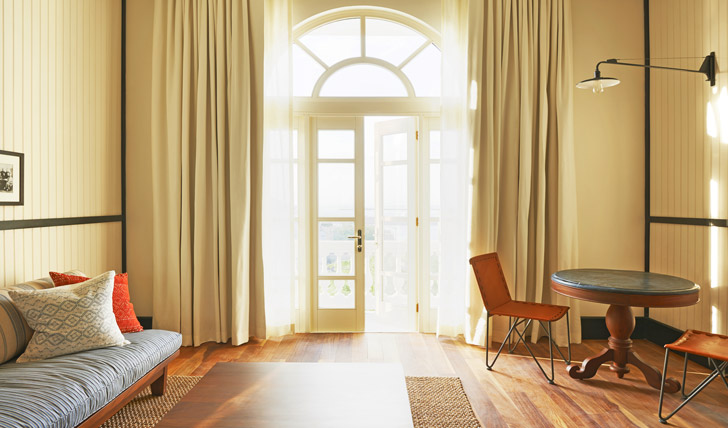 Light and airy rooms