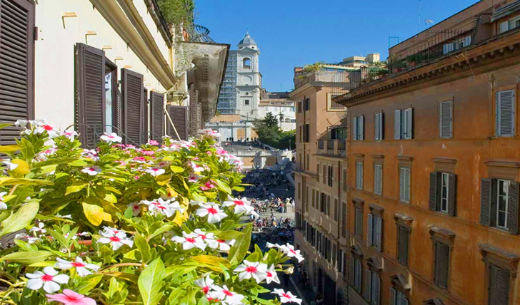 Views of the Spanish Steps