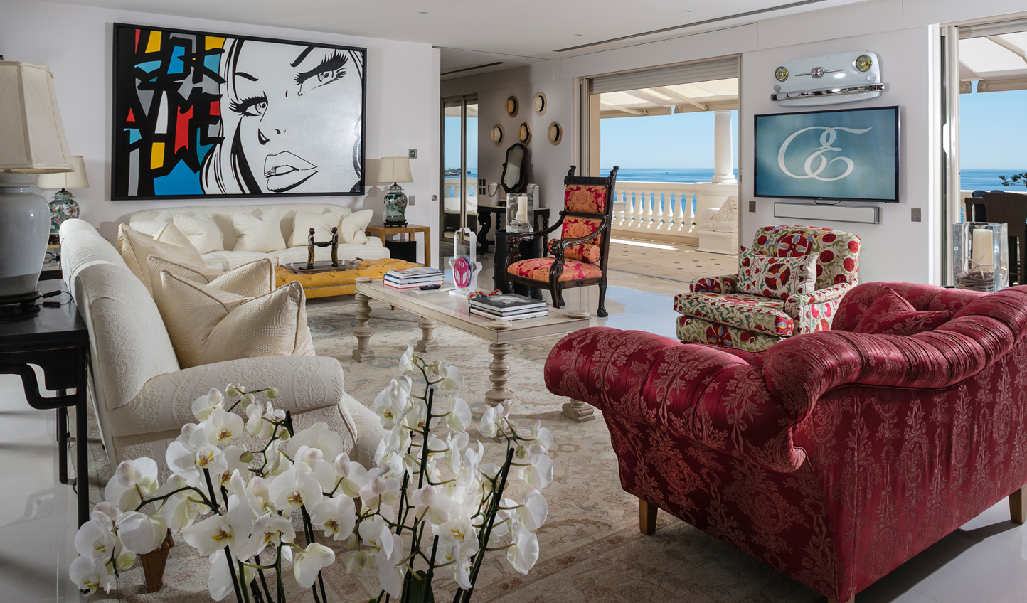 Splashes of colour add a sense of fun in the luxurious suites