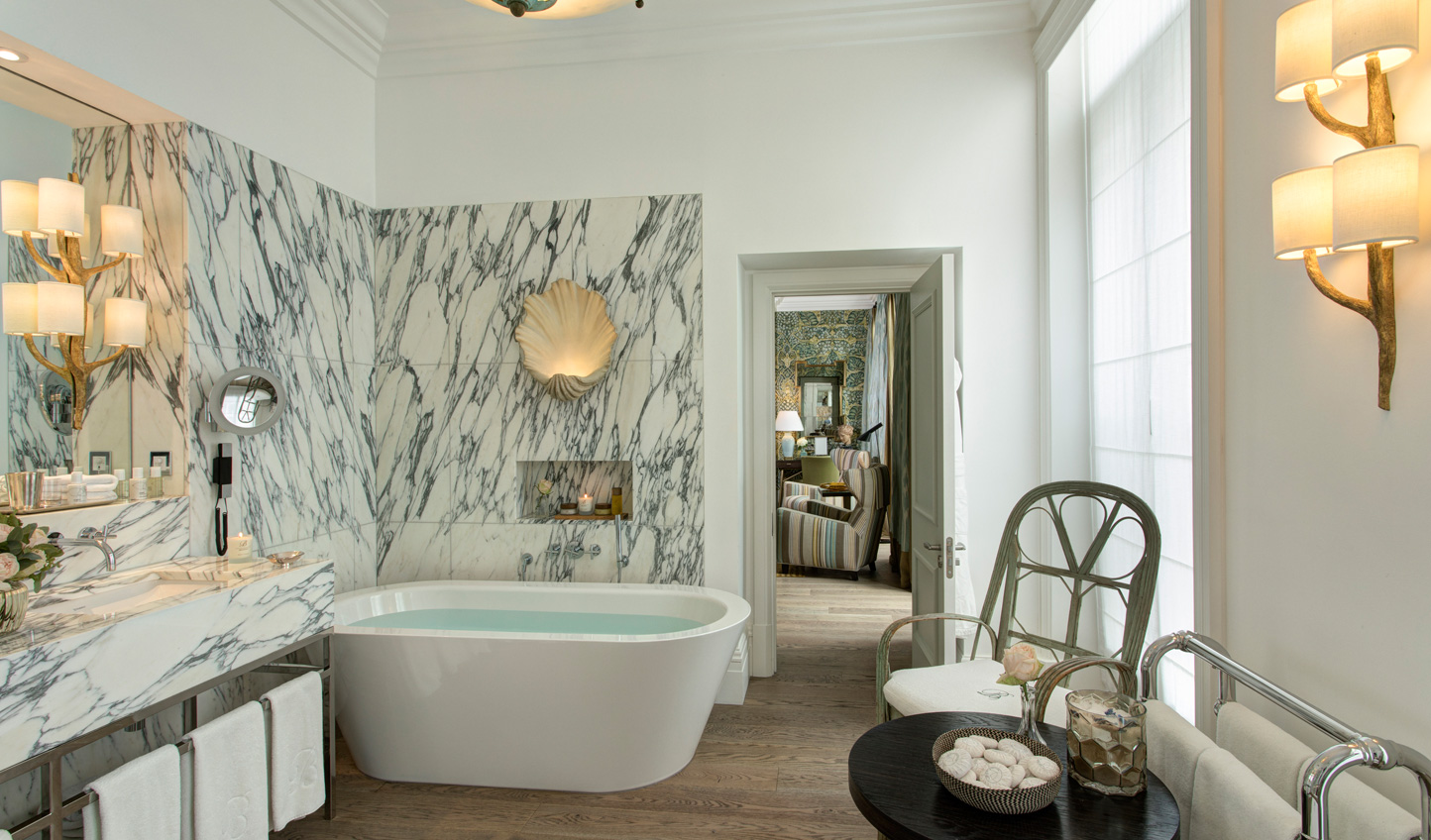 Exquisite marble bathrooms- only the best at Brown's