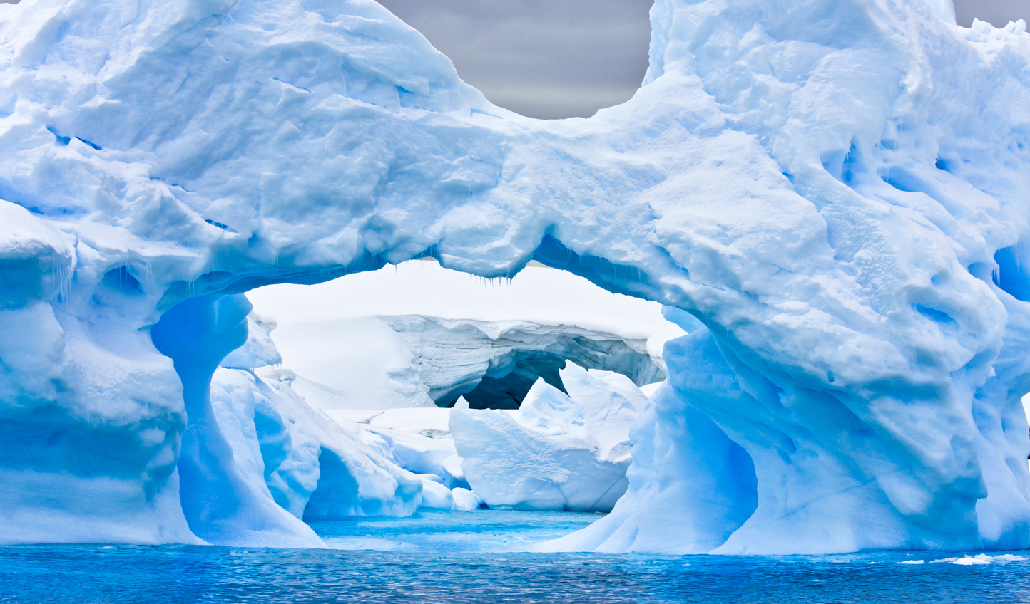 Ever sailed beneath an ice arch? There's a first for everything