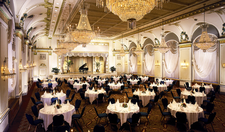 Dine in grand surroundings
