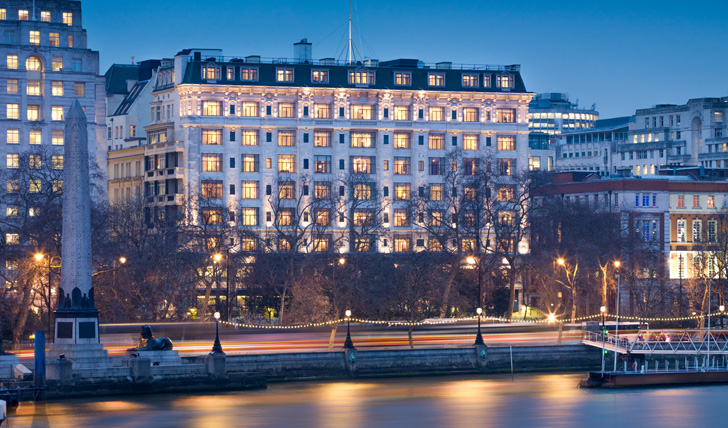 The iconic Savoy right on the River Thames