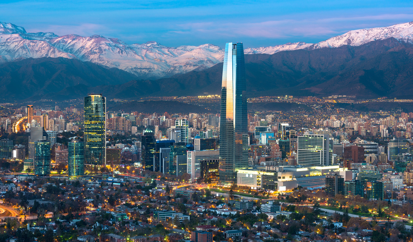 Snow-capped mountains create the perfect backdrop to your Santiago adventure