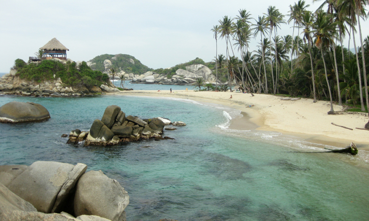 Flop on the golden sands of Tayrona National Park