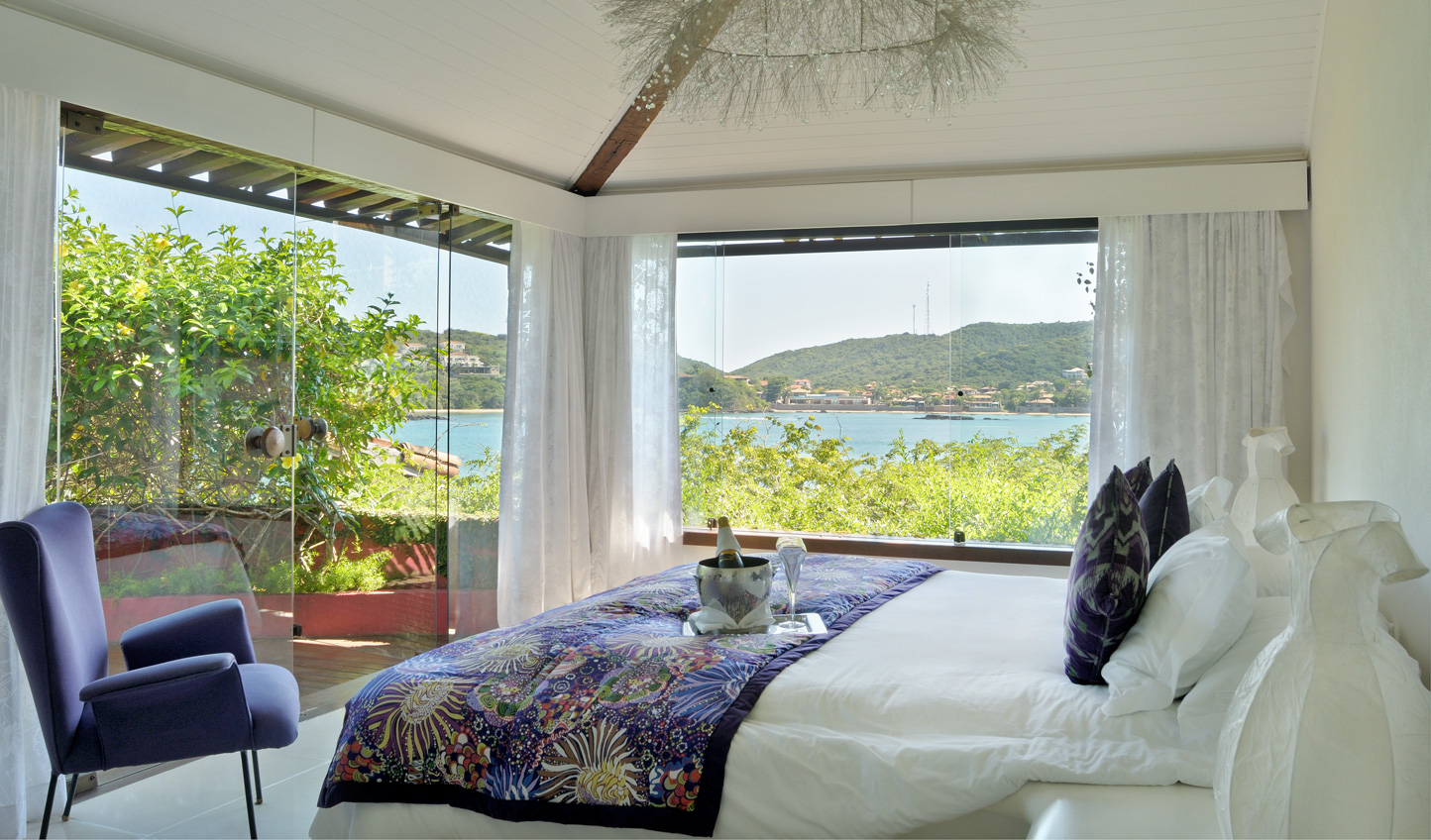 Soak in the views from wraparound glass windows