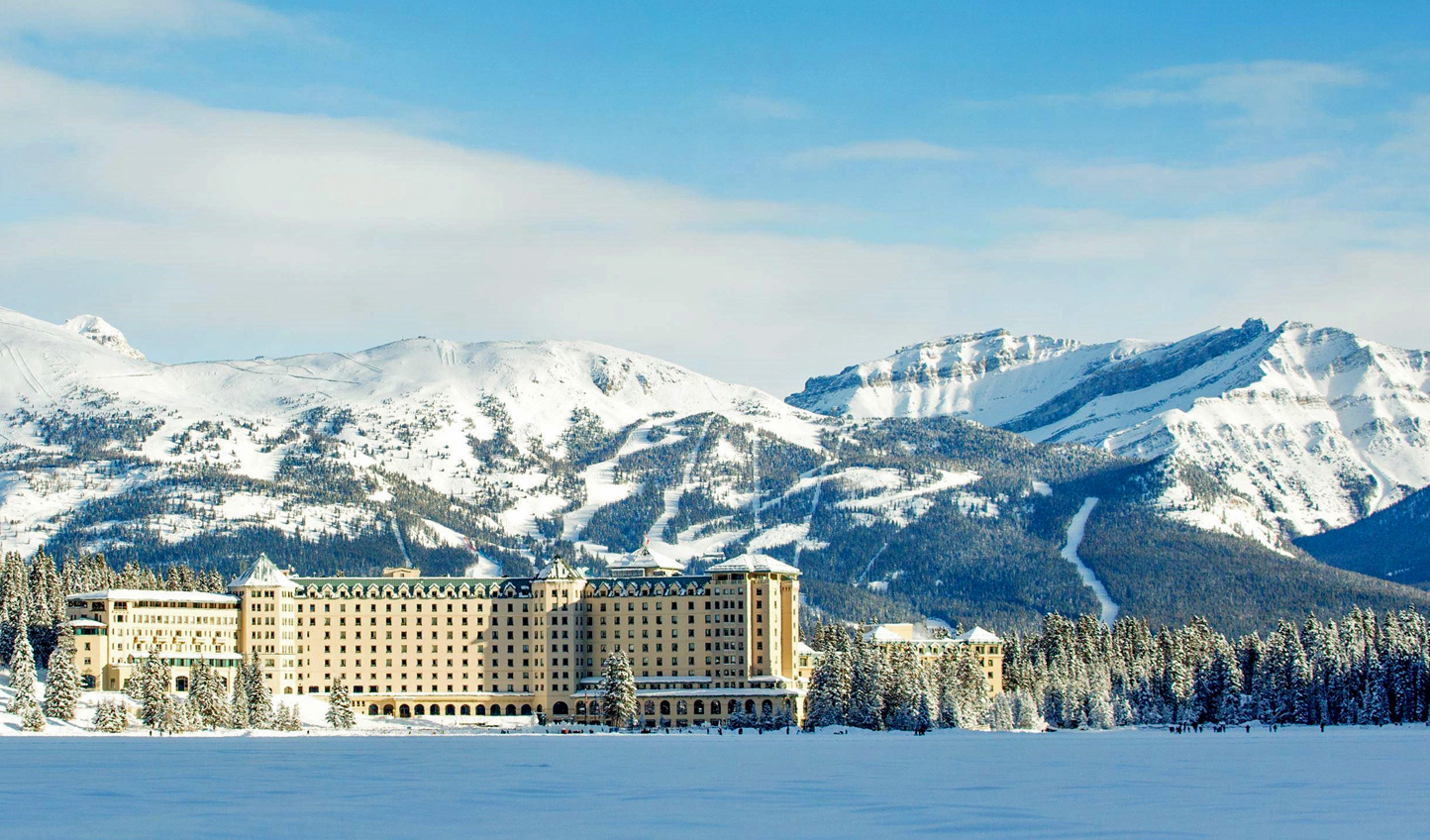 Come winter, the snow gives Fairmont Chateau Lake Louise an extra layer of magic