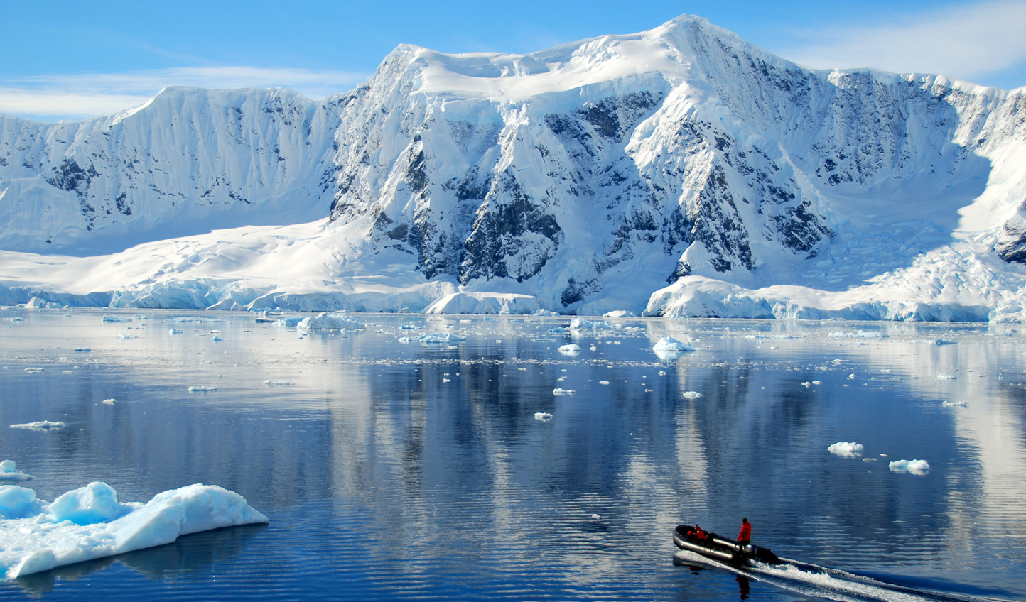 Head out on the zodiac and step onto these icy plains