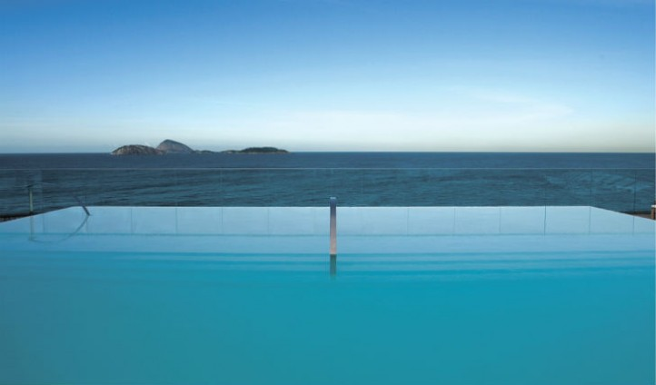 Amire the stunning rooftop views from the infinity pool
