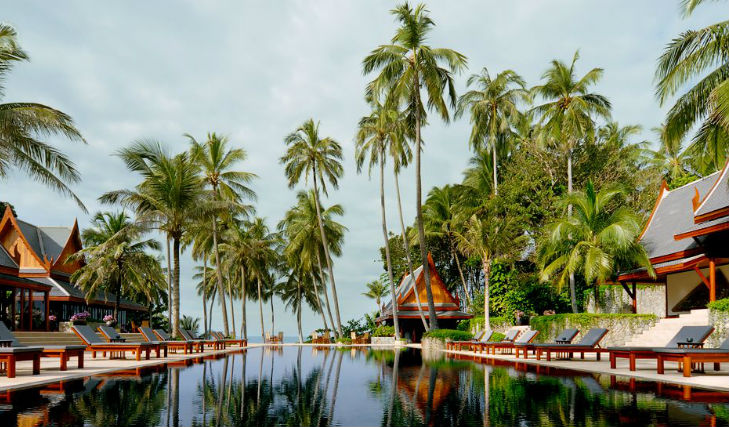 Lay beneath the palms at Amanpuri