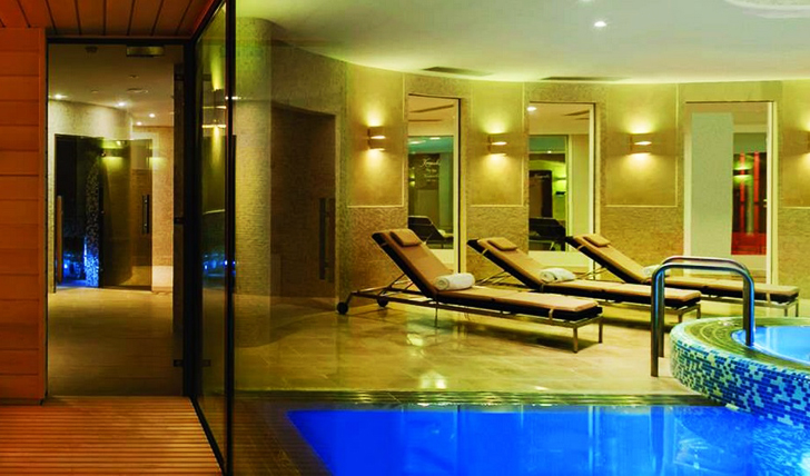 Relax in the spa area