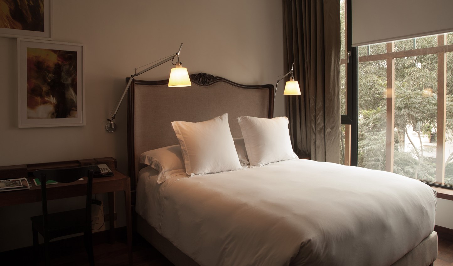 Cosy up in one of the guest rooms