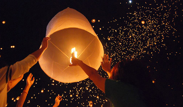 Release your lanterns in Isaan