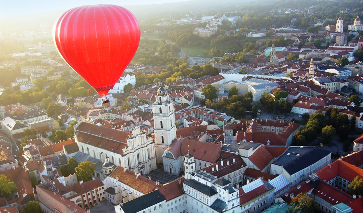 Enjoy a hot air balloon ride
