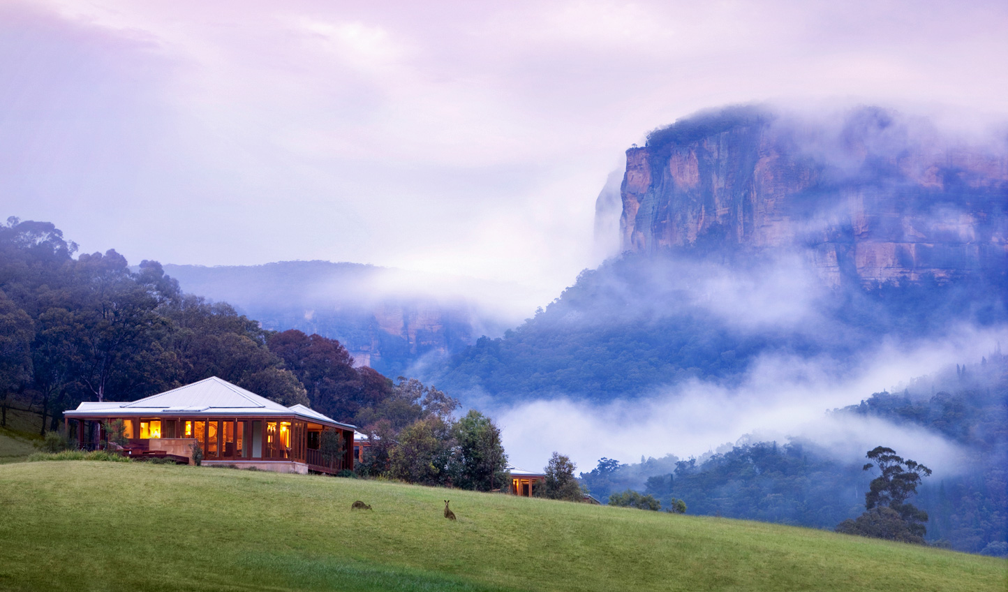 Hideaway amid the sweeping landscapes of Wolgan Valley