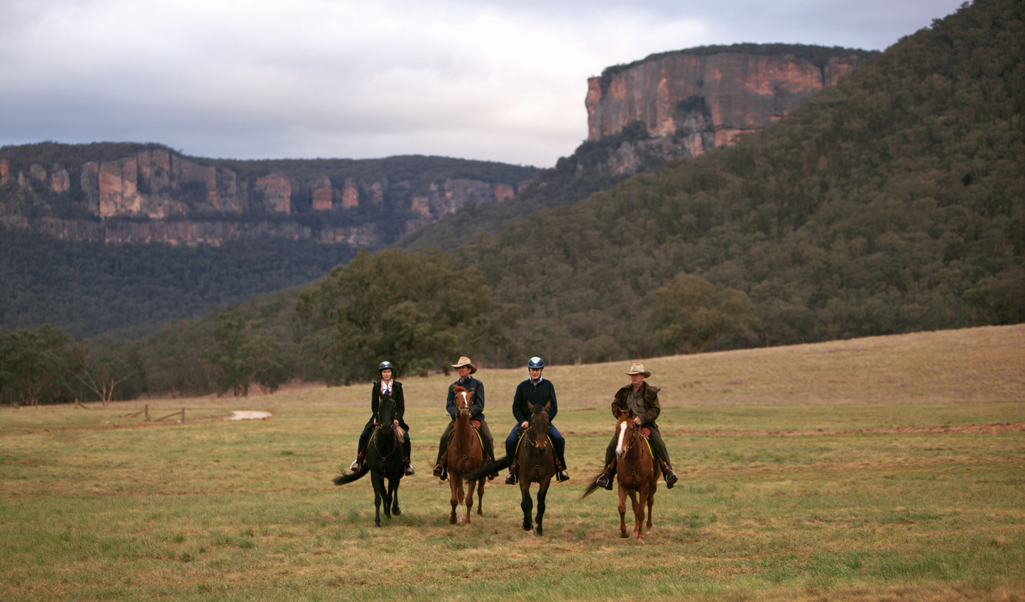 Explore the valley on horseback