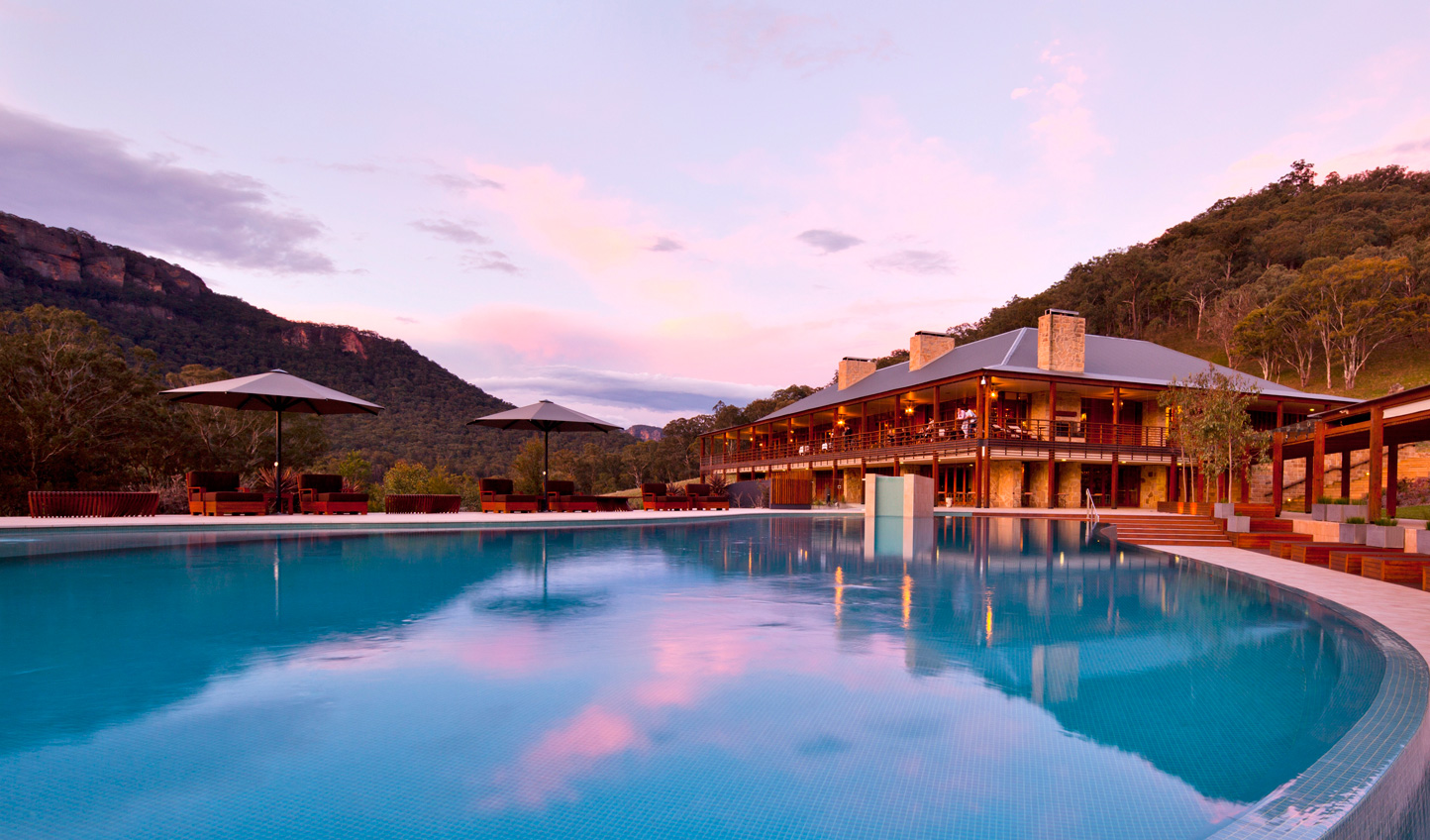 Escape the heat of day with a dip in the pool