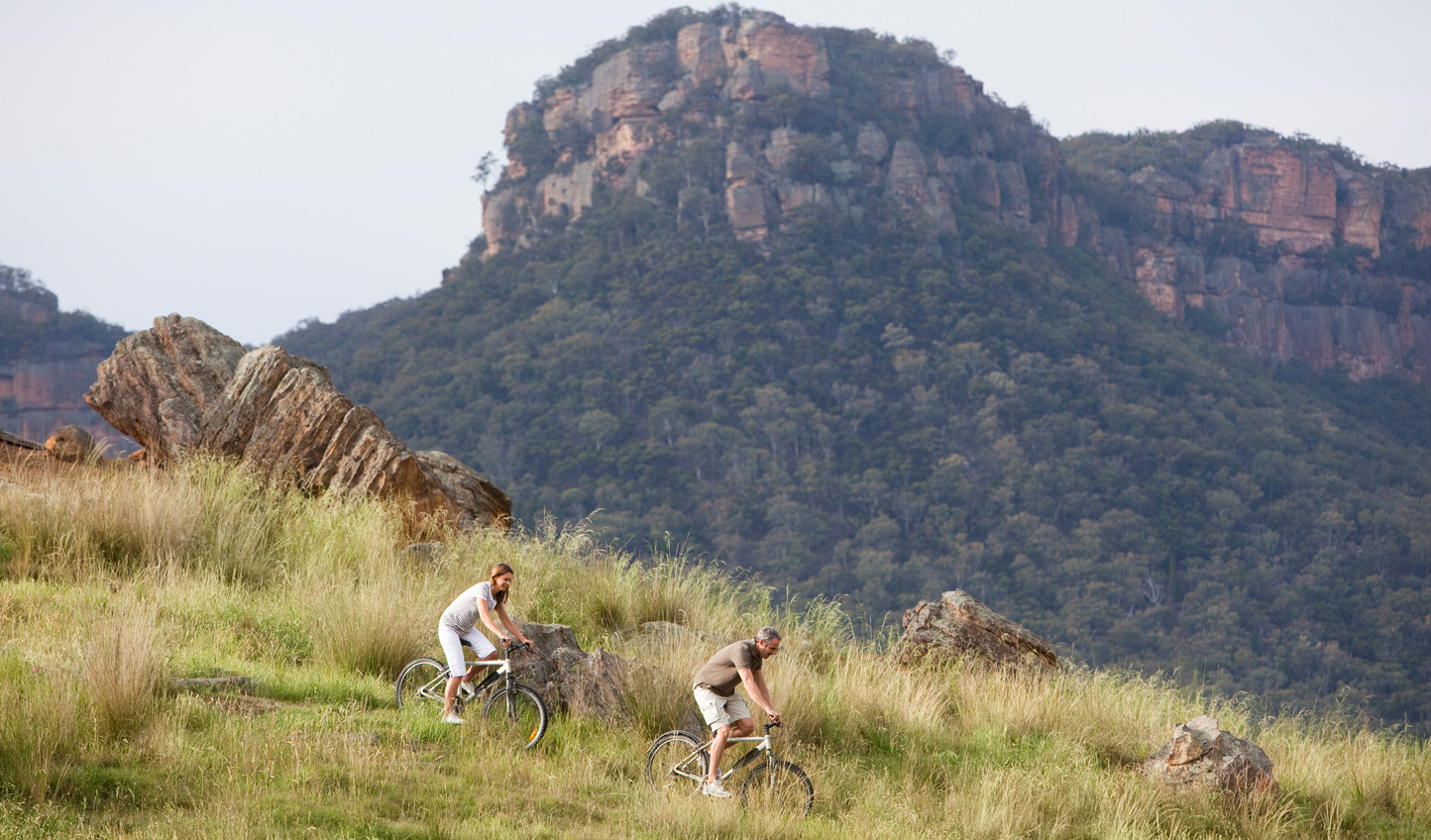 Tackle the valley terrain by mountain bike