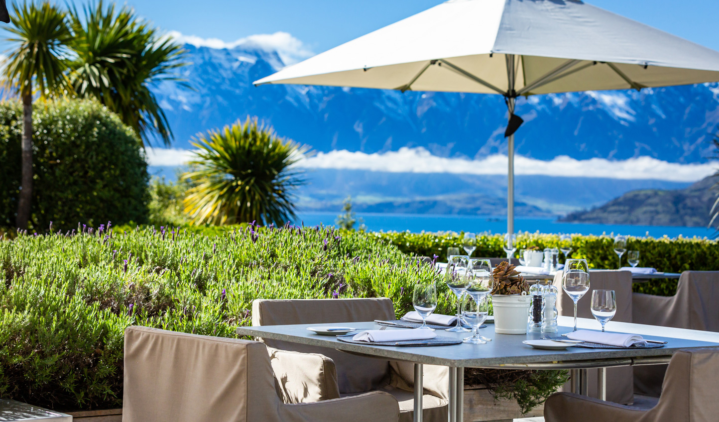 Dine alfresco amid your spectacular surroundings