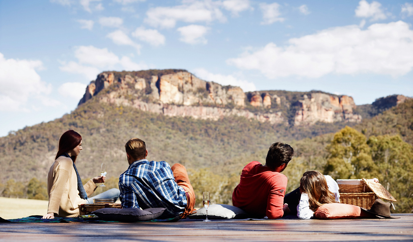 Find a quiet spot for a picnic with an all-inspiring view