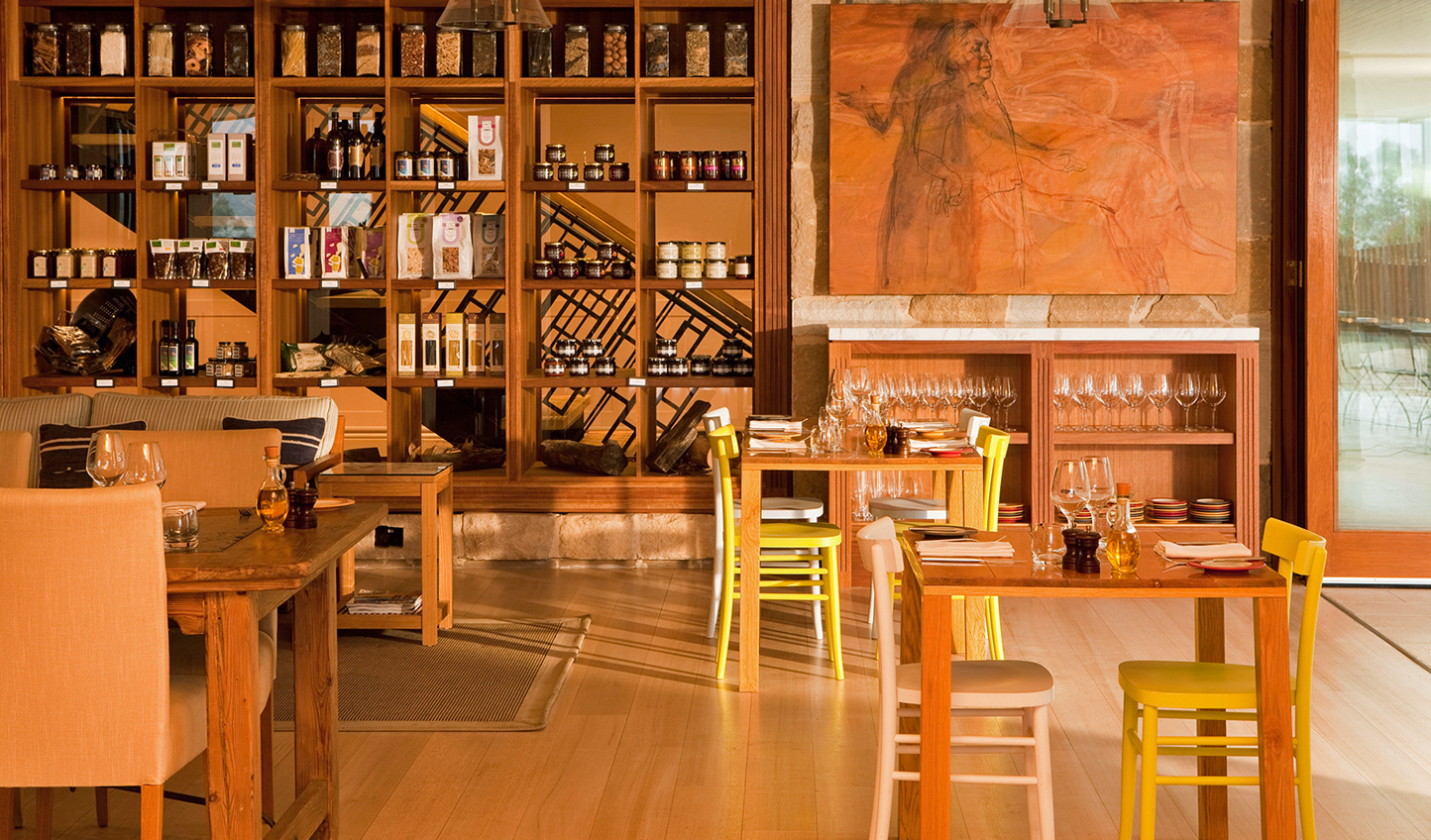 Sit down each night to gourmet fare and world-class wines
