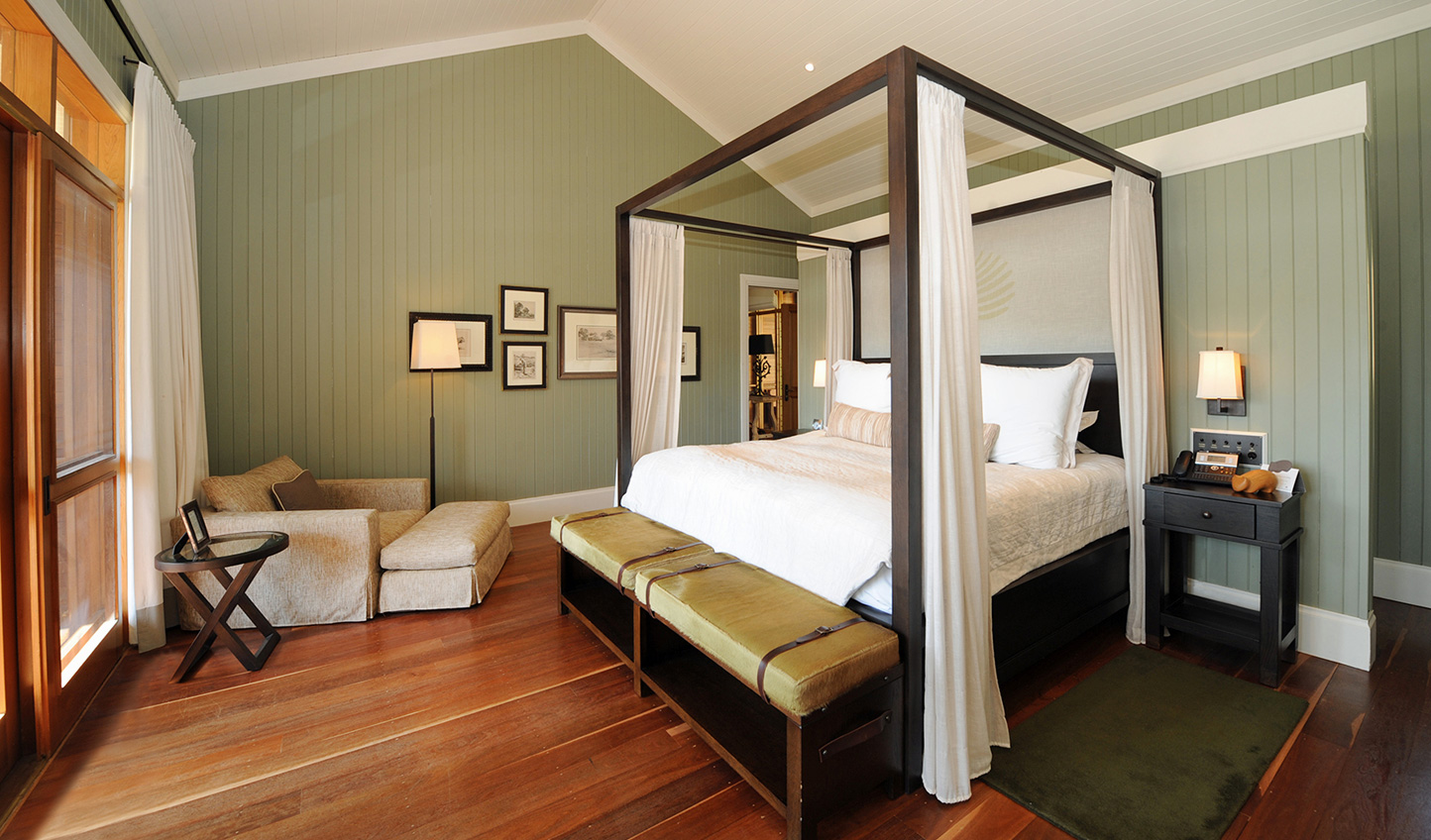 Sleep soundly in sumptuous four-poster king-size beds