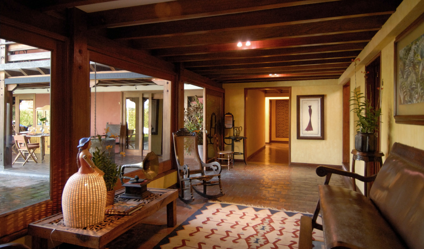 Beautiful traditional furnishings throughout the hotel