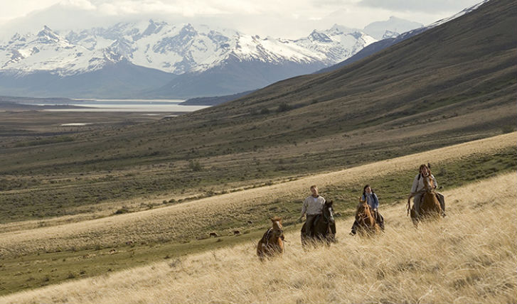 Ride through the ranch on horseback
