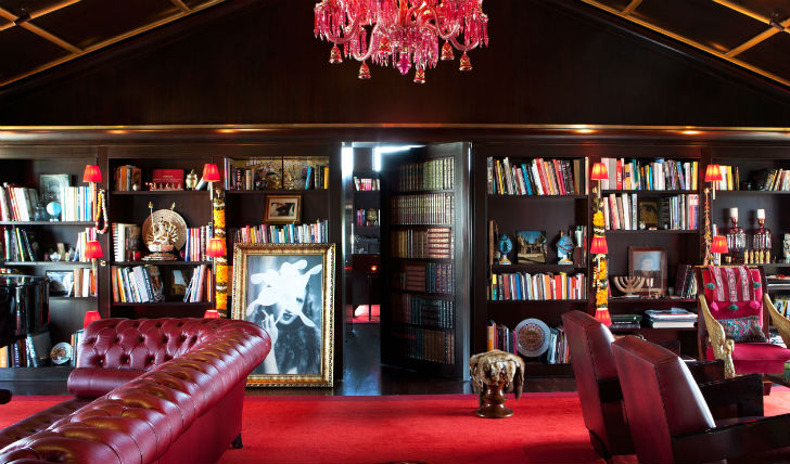 Take afternoon tea in the library lounge