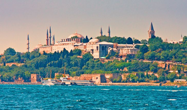 Cruise past the sites on the Bosphorus River