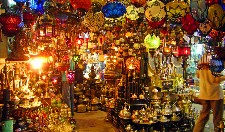 Shop in the Grand Bazar in Istanbul