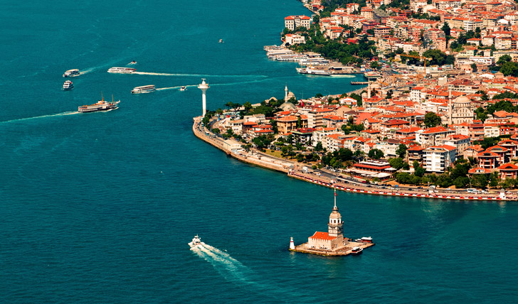 Sail down the  Bosphorus