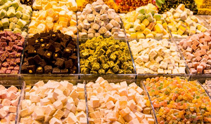 Taste delicious Turkish delight