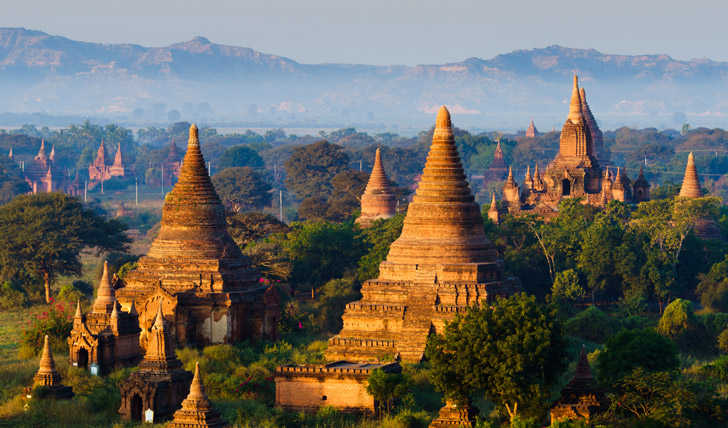 Explore the many temples at Bagan