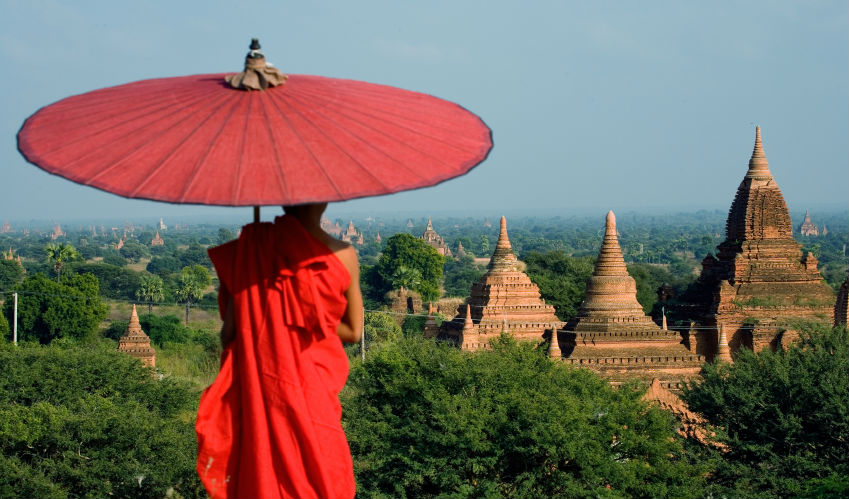 Burma monk in Bagan