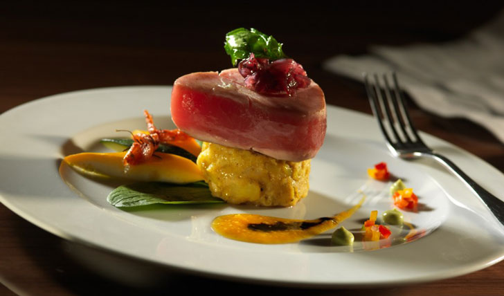 Food at luxury hotel in Quito
