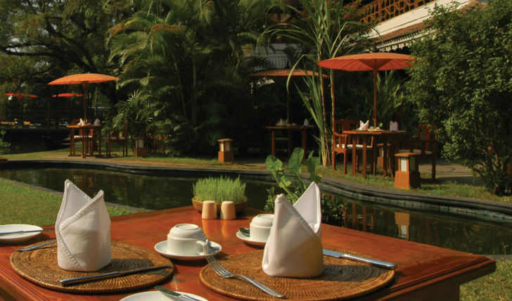 Dine alfresco at the Mandalay Restaurant