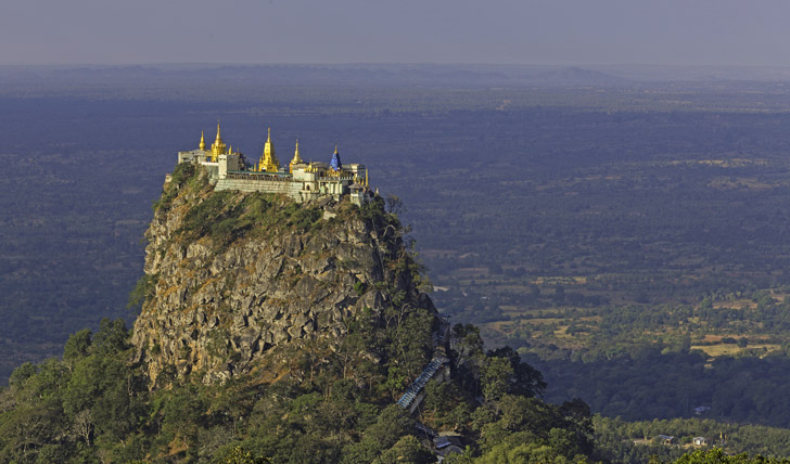 Tackle the steps of Mount Popa