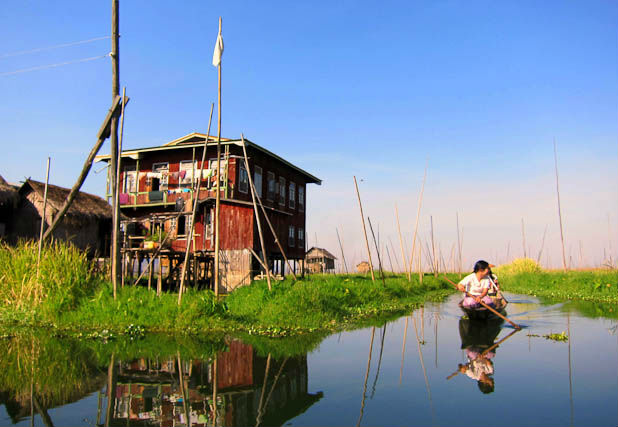 Explore the floating villages