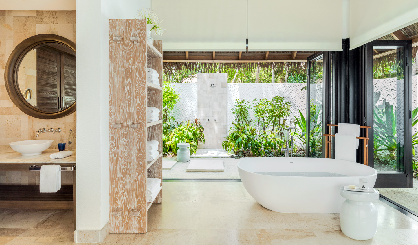 Sleek interiors are offset by wild nature