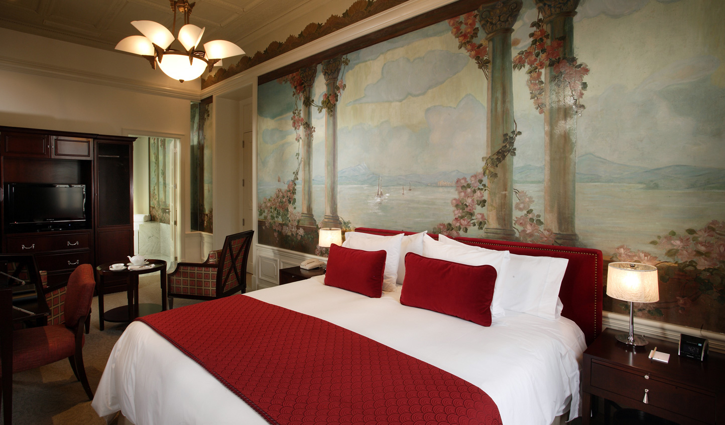 Beautiful design features like murals decorate the rooms
